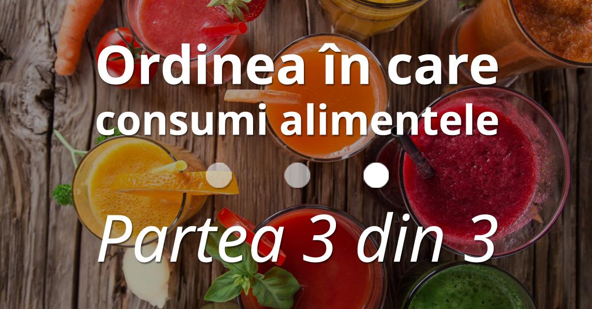 Ordinea în Care Consumi Alimentele – Partea 3 Din 3