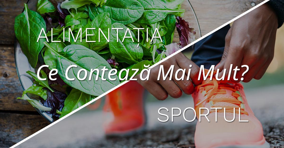 Ce Contează Mai Mult, Alimentația Sau Sportul?